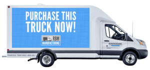 RBM Manufacturing Ford Transit Cutaway Box Truck with LED Screens